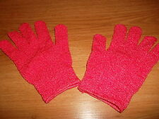 Girls coral pink gloves, BOOTS, best fit 9-14 years, NEW
