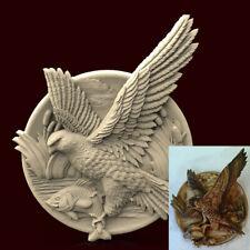 3d STL Model CNC AP021 (Plate Hawk) Engraver Carving Machine Relief Artcam