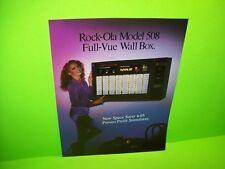 Rock Ola Model 508 Full Vue Wall Box Original Phonograph Music Jukebox Flyer