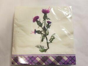 Wild Thistle Scottish Paper Napkins Home Party Dining Soft Tissue Serviettes