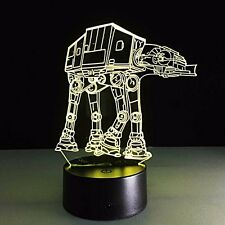 ATAT 3D LED Night Light Star Wars Touch Switch Table Desk Lamp 7 Colors Changing