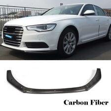 A6 Front  Chin Lip Spoiler For AUDI A6 C7 Facelift 2013Up Non Sline Carbon Fiber