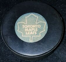 OFFICIAL GAME PUCK NHL USED VICEROY CANADA TORONTO MAPLE LEAFS made in CANADA