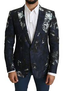 DOLCE & GABBANA Blazer MARTINI Blue Floral Slim Fit IT50 / US40 / L