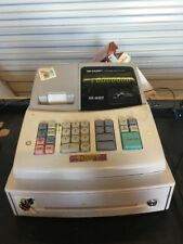SHARP XE-A102 ELECTRONIC CASH REGISTER TESTED TO POWER ON NO KEYS
