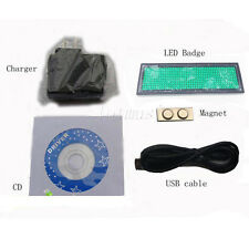 Green Moving Scrolling LED Name Badge Tag Sign Display Programmable Message