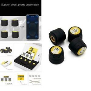 Bluetooth APP Car Tire Pressure Monitor System Wireless TPMS + 4 External Sensor