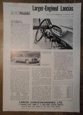 LANCIA FLAVIA 1.8 & FLAMINIA 2.8 ORIG 1963 UK Opuscolo Vendite Mkt opuscolo Caratteristica