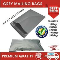 "STRONG GREY 4.5"" x 7"" MAILING POST MAIL POSTAL BAGS POLY POSTAGE SELF SEAL CHEAP"