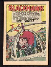 "Blackhawk #58 (Nov. 1952)  ~  ""King Cobra"" (.5) WH"