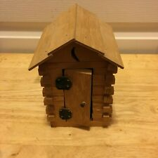 Hand-Made WOODEN 2-SEATER OUTHOUSE from Southwest Missouri 1990s