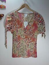 NICOLA Women's Short Sleeve Blouse - Sz M