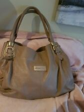 gorgeous jessica T pebbled taupe leather bag