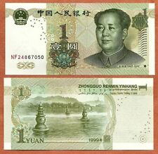 "China Prc,1999, Unc, 1 Yuan, Banknote,Paper Money Bill, P-895(a), ""Mao Tse-tung"""