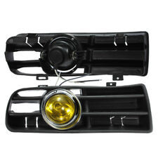 Yellow Front Grille Fog Light Lamp Lower Grill For VW Golf MK4 GTI TDI 1998-2004