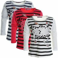 Gestreifte Langarm Mädchen-Tops, - T-Shirts & -Blusen aus Baumwollmischung