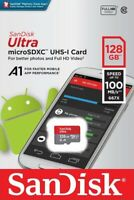 SanDisk® Ultra 128GB microSDXC™ UHS-I SD Card Speed up to 100MB/s C10 U1 A1 New