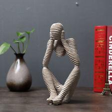 Denker Skulptur Figur Sandstein-Look Dekoration Feng Shui Abstrakt Möbel Statue