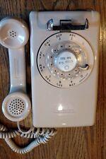 VINTAGE Stromberg-Carlson Rotary Dial Working Wall phone - Beige/Cream/Tan