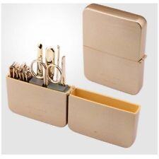 Three Seven 777 TS-4112 Nail Clipper Grooming Kit Set Travel Gold Case