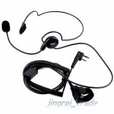 Headset PTT for Kenwood Puxing Wouxun Baofeng 2-PIN Radio with boom mic C2F2