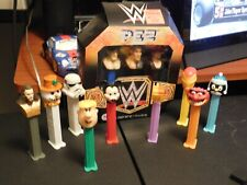 Pez Lot of 12 Made in China Dispensers Featuring Wwe, Aquaman, Iron Man, More