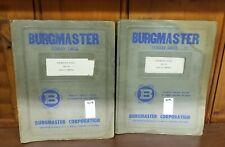 New listing Burgmaster Model 3Bh-Sh Service Manual