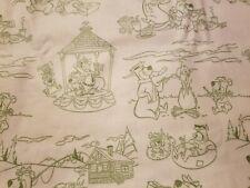 Fabric for Sewing Crafts Quilt Mask Yogi Bear Kids 9x21 Scrap Cotton Green
