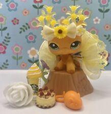 Authentic Littlest Pet Shop # 1643 Orange Yellow Short Hair Cat Green Eyes