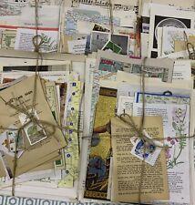30pc Vintage Paper Books Maps Music scrapbooking junk journal Craft Decoupage