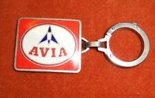Porte-clés Pétrole AVIA mini Plaque émaillée SUPERBE N° Fusée TINTIN AUGIS LYON