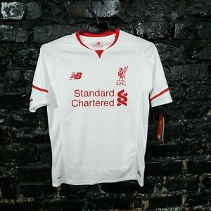 Liverpool Jersey Away football shirt 2015 - 2016 White New Balance Size Young L