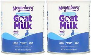 (2 Pack) Meyenberg Goat Milk, Nonfat Powdered Goat Milk, 12 oz (340 g) BB8/2024