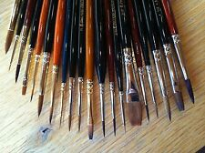 Model brushes / Warhammer / Wargamer / Foundry / Army Painter style packs of 20