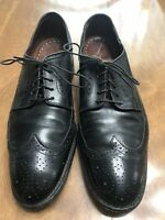Allen Edmonds Lombard Black Brogue Wingtip Derby Dress Shoe Mens 9 D