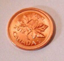 CANADA 2012 1 CENT BRILLIANT UNCIRCULATED NON MAGNETIC EX ROLL LAST PENNIES