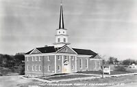 Lockport IL Newly Built First Congregational Church~RPPC c1950