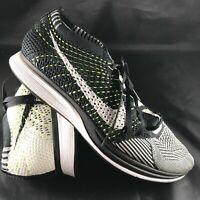 2013 Nike Orca Black/White-white Flyknit Racers Size 8 526628-011 41 EUR