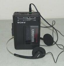 Nice!! SONY Walkman #WM-F2015 Cassette Player AM/FM Radio & SONY HEADPHONES