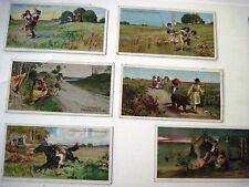 "Six Vintage German Advertising Cards by ""B.Sprengel & Co. for Chocolate (B)*"