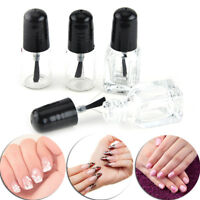 Almacenamiento botella vidrio transparente esmalte de uñas vacío con tapa ne*ws