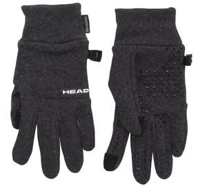HEAD Unisex Ultrafit Touchscreen Running Gloves in Dark Heather, Size S