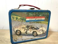 Auto Race Magnetic Game Kit Metal Lunch Box No Thermos King Seeley 1967