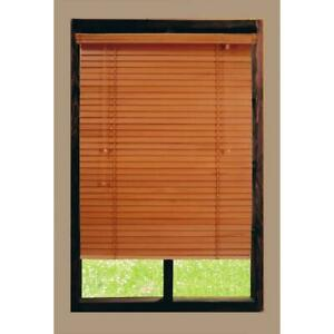 Home Decorators Golden Oak 2 in. Real Wood CORDED Blind - 47 in. W x 64 in. L