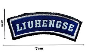 LIUHENGSE Sew on Embroidered Sew Patch Badge Patches 2cm x 7cm P124