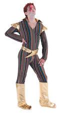 Men's Fancy Dress Ziggy Stardust Costume David Bowie 70s (One Size) 3159