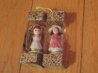 Vintage Sprites Christmas Ornament Lot Rosalind Welcher Happy Day Friends (V39)