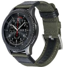 V-MORO 22mm Green Woven Nylon Watch Strap For Gear S3 Classic & Frontier.