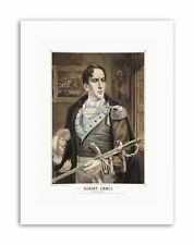 PAINTINGS ROBERT EMMET IRISH PATRIOT MARTYR HERO Painting Portrait Canvas art