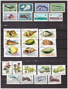 s27877) FISHES AQUATIC PLANTS MNH** 5 different complete sets 26v (1 IMPERF.)